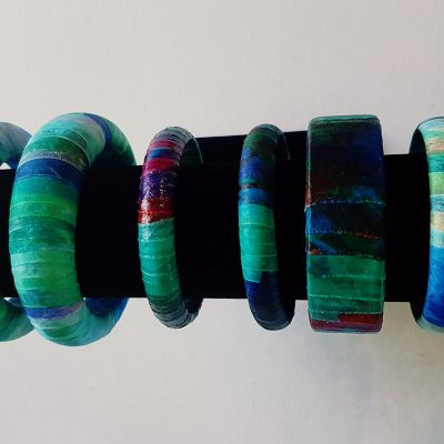Bangles Wrapped in Silk
